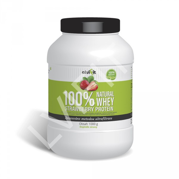 100% Natural WHEY Strawberry Protein 1 kg (1)